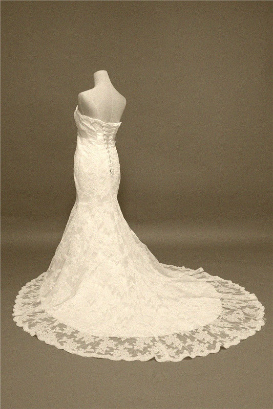 Custom made Vintage Alencon Lace Wedding Dresses by Luckyisabelle, $289.99