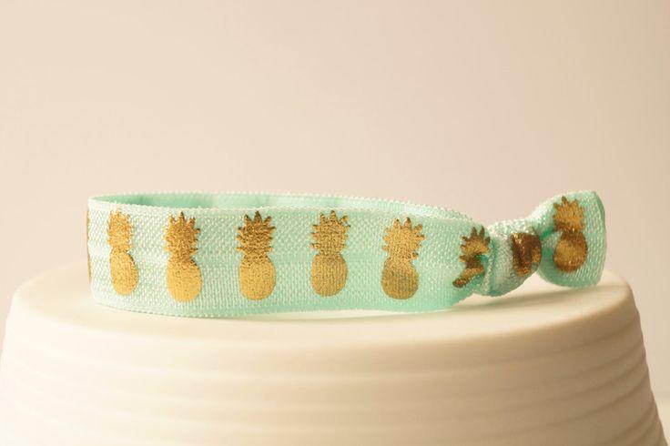Haargummis - Haargummi Armband USA TREND geknotete weich mint - ein Designerstück von myvena bei DaWanda