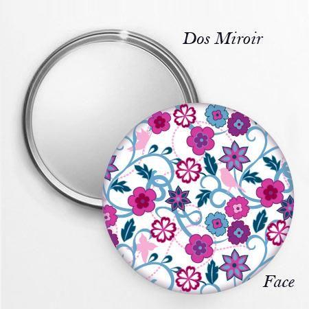 Stickers - bluelilou - Miroir de poche Buisson fleuri