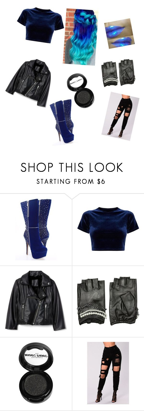 """""""Hades daughter"""" by girlofthenight ❤ liked on Polyvore featuring Karl Lagerfeld and Manic Panic NYC"""