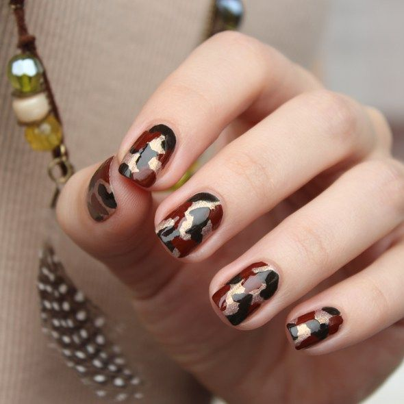 Camo nails art design