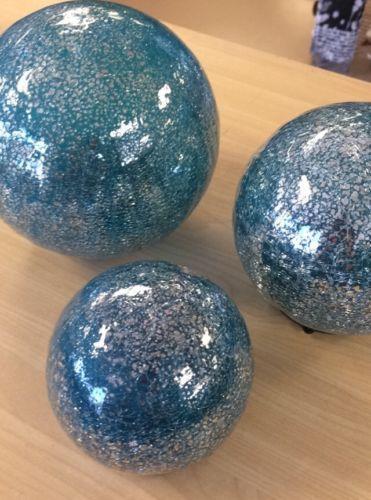 Valerie-Parr-Hill-Set-of-3-Lit-Color-Within-Mercury-Glass-Spheres-PICK-COLOR
