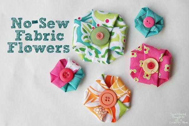 no sew fabric flowers