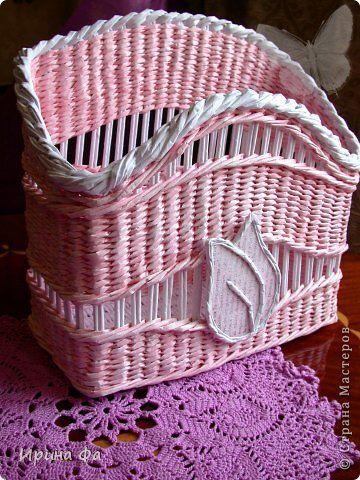 Поделка изделие Плетение Летняя коллекция Трубочки бумажные фото 1