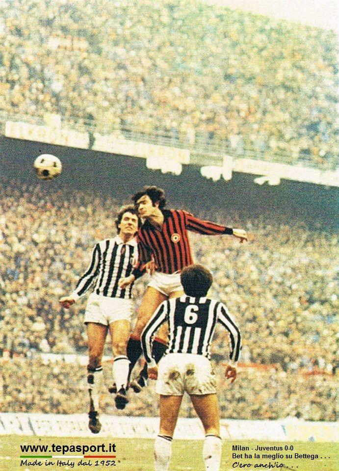 A.C. Milan - Juventus 0-0 Aldo Bet ha la meglio su Roberto Bettega ... ⚽️ C'ero anch'io ... http://www.tepasport.it/  Made in Italy dal 1952