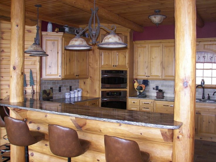 Best 25+ Log home kitchens ideas on Pinterest | Cabin kitchens ...