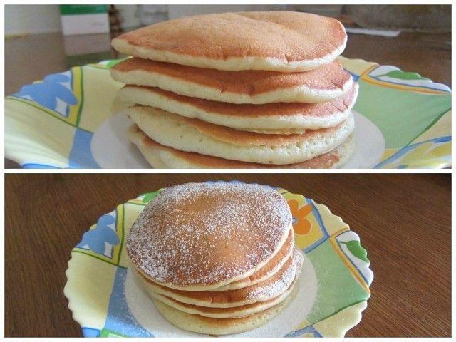 1. Взбить венчиком в тарелке 2 яйца и поставить на водяную баню их подогреться,чтоб сахар (3 ст.ложки) лучше растворился. После это взбить миксером до белой густой пены! 2. Добавить туда 2 ст по 250 гр. теплого кефира (ряженки) и 2 ст.л. растит. масла; 3. Просеять 2 ст по 250 гр. муки,доб. 1 ч.л. соли и пакетик ванильного сах.; 4. Смешать все миксером или венчиком,до без комочков! 5. Положить 1 ч.л. без горки соды и оставить тесто на 5 мин. 6. Выпекать на сухой!сковородке без масла. Я выпек