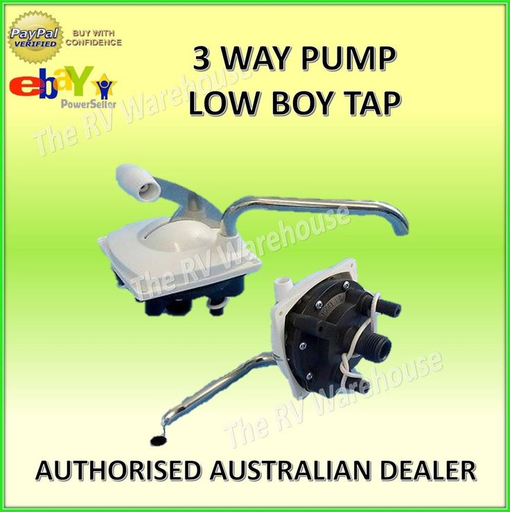 3 Way Pump Low Boy Tap Faucet New Caravan RV Motorhome Parts Accessories Boat