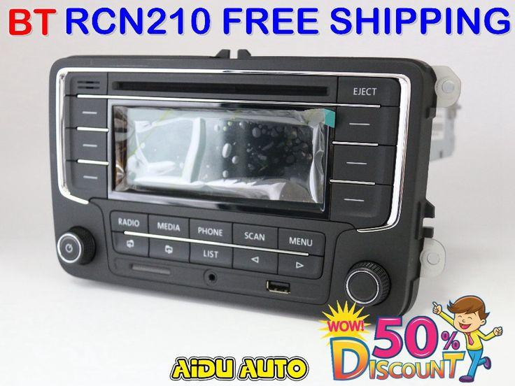 Used RCN210 Bluetooth MP3 USB Player CD MP3 Radio FOR VW  Golf 5 6 Jetta Mk5 MK6 Passat B6 CC B7