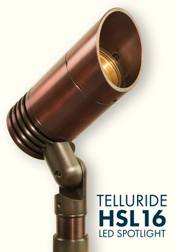 Our best-selling, most versatile directional light. Ideal for up-lighting trees and architectural features, this low-energy, high output LED spot is built to shine for decades in any environment. CREE-powered LED module can be swapped for conventional MR16 halogen making this a true hybrid fixture. Tasteful Auroralight styling and legendary copper construction make the TELLURIDE a classic.