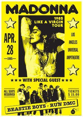 MADONNA  Beastie Boys  Run DMC  Los Angeles 28 April by tarlotoys, €10.00