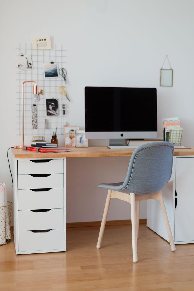 neuer schreibtisch und ein einfaches organizer diy haus b ro. Black Bedroom Furniture Sets. Home Design Ideas