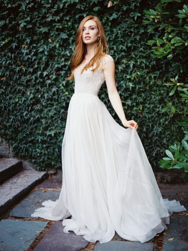 10 Ethereal Wedding Gowns: Paolo Sebastian by Erich McVey