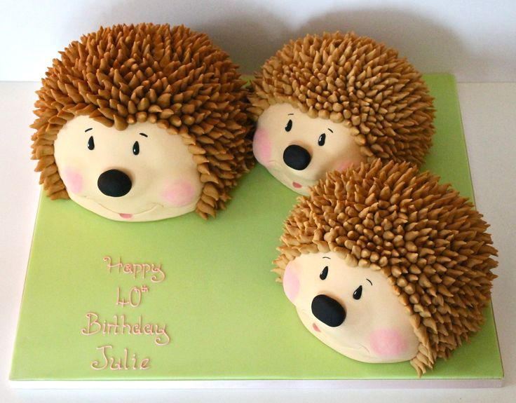 Hedgehog Family Cake - Sweetie Darling Cakes