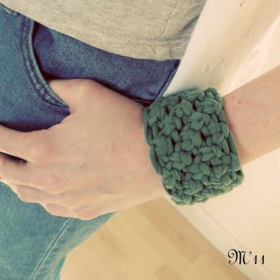 Macrame t shirt bracelet