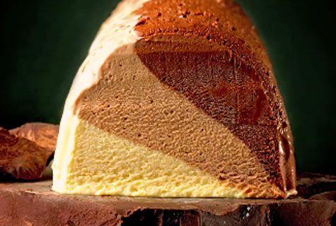 Le ricette del Re del cioccolato, Ernst Knam: tris al cioccolato (semifreddo).