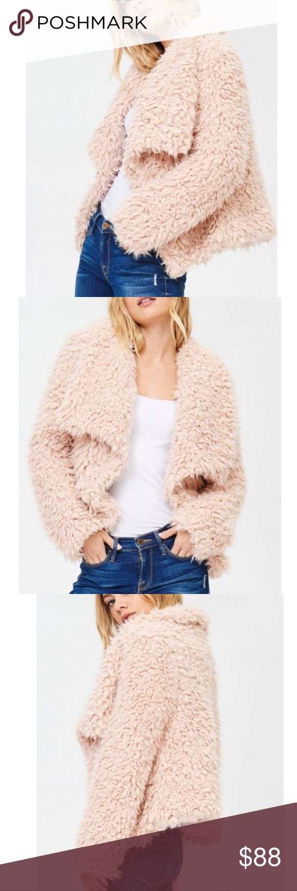 🆕Harmony Blush Pink Faux Fur Shaggy Teddy Jacket New Boutique Item. The Harmony Coat features a soft cozy faux fur material, gorgeous exaggerated collar, and pockets. Perfect jacket to dress up and dress down! Great faux Fur Jacket for New Years Eve! Color(s): Blush Pink Material: 100% Polyester  Imported Jackets & Coats