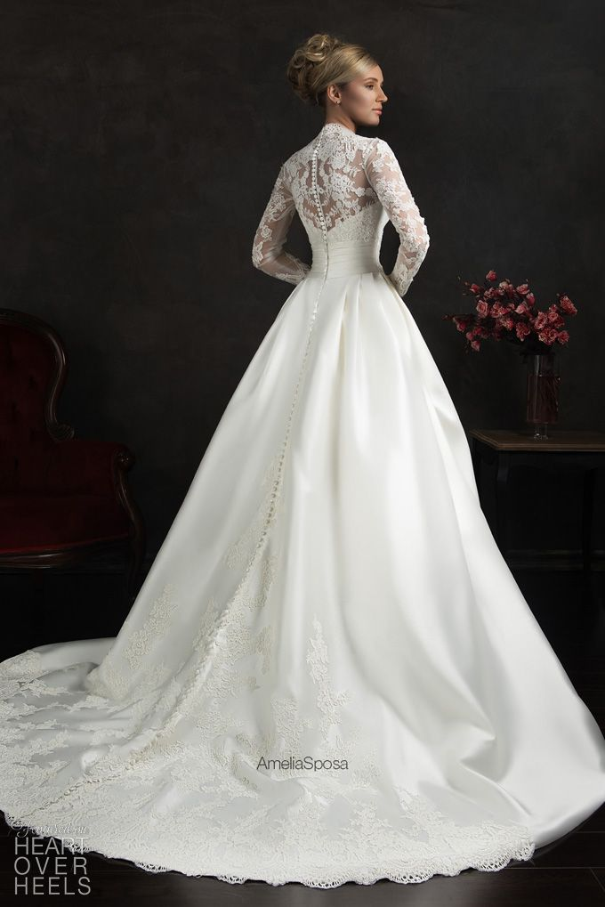 Amelia Sposa 2015 Wedding Dress Style: Elissa - Heart Over Heels #bridal #designer