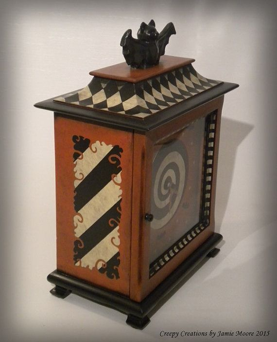 Whimsical Halloween Antique Mantel Clock A by creepycreations