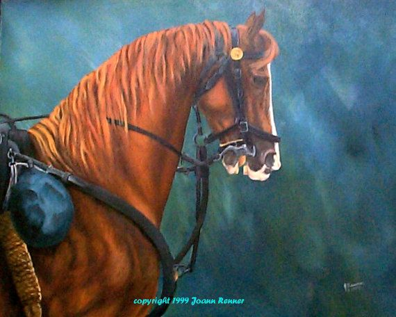 Warhorse-US Cavalry Original Oil on Canvas by RennerLaDifference