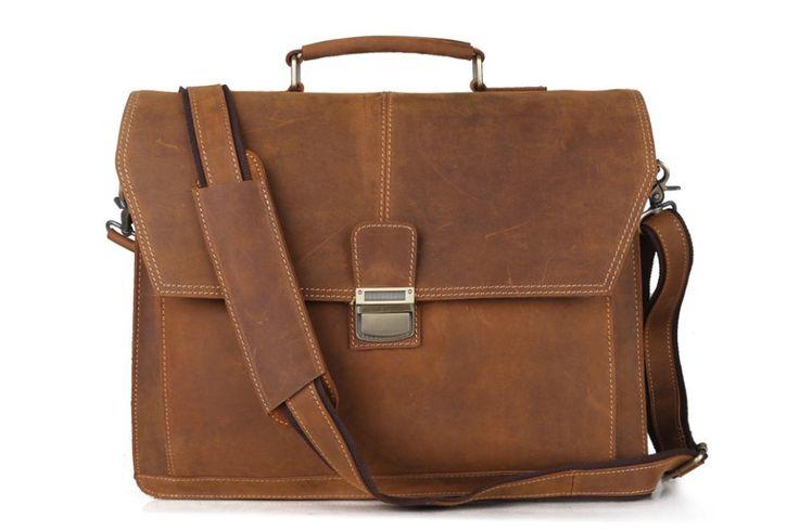 Handmade Vintage Leather Men Messenger Bag 7083