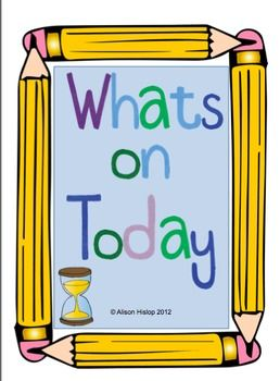 What's On Today? Daily Schedule Freebie!