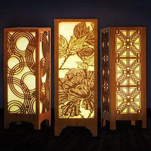 Laser Cut lamps!