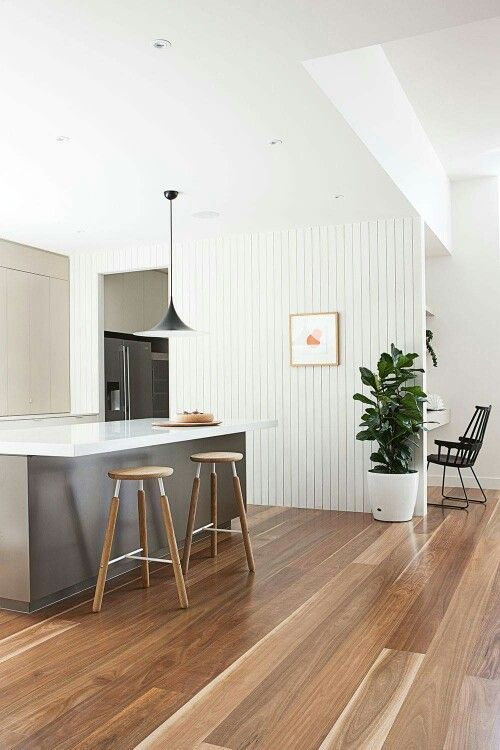 Love this Spotted Gum flooring.