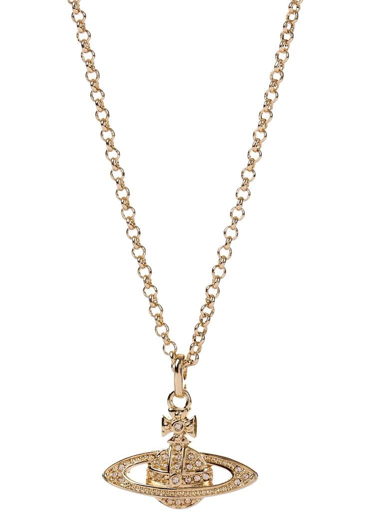 Shop Vivienne Westwood Jewellery at Garment Quarter. Gold Vivienne Westwood Mini Bas Relief Pendant with Next Day and Weekend Delivery.