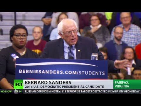 Oct 29, 2015 Presidential candidate Bernie Sanders addressed his supporters and local students at George Mason University in Fairfax, VA. Sanders mainly focused on income inequality, universal healthcare and free education.