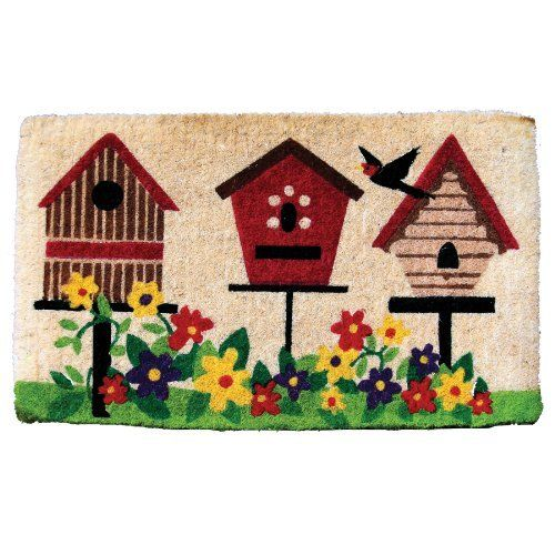 Garden Odyssey KG/CE/3S 009 FM2 Deluxe Bird House Design Coir Door Mat by Garden Odyssey. $28.50. Made of high quality construction and natural fibers. Measures 30-inch length by 18-inch width by 1-inch thick. FM2 deluxe bird house design coir door mat. Best quality, thick coir door mat. These mats are long lasting. This FM2 deluxe bird house design coir door mat is made of high quality construction and natural fibers. These mats are long lasting. Best quality, thic...