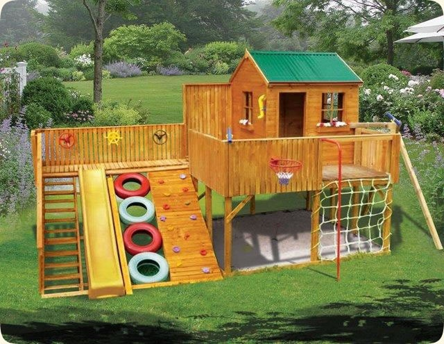 17 Best Images About Outdoor Playhouses And Playgrounds On