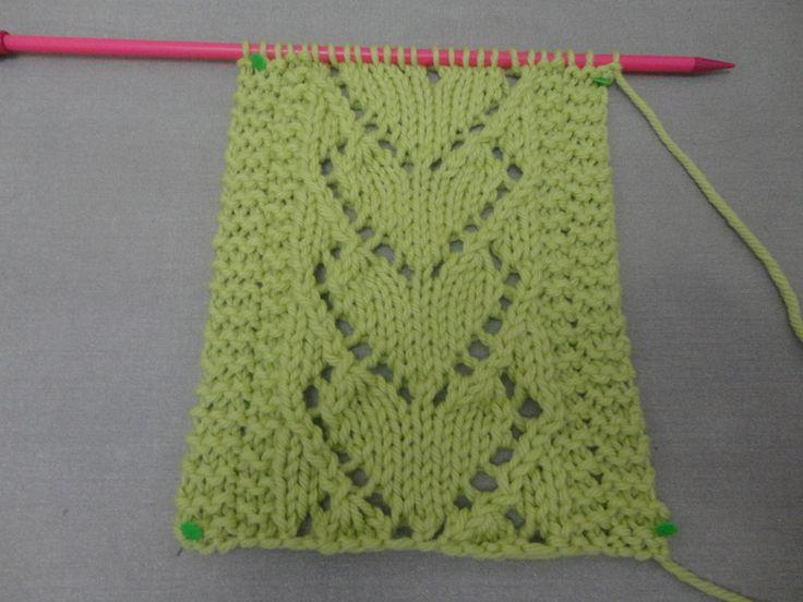 Ponto de tricô coração
