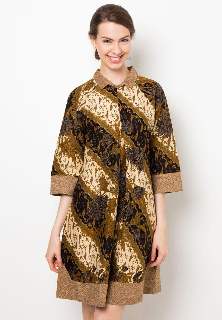 Mini Dress Motif Parang Boket by Danar Hadi OK0747 | Klikplaza Online Shop