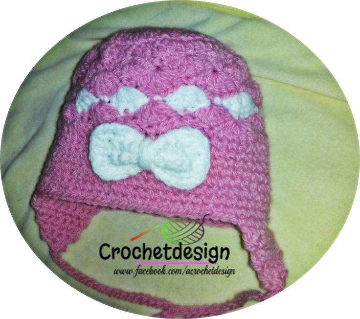 Crochet pink hat