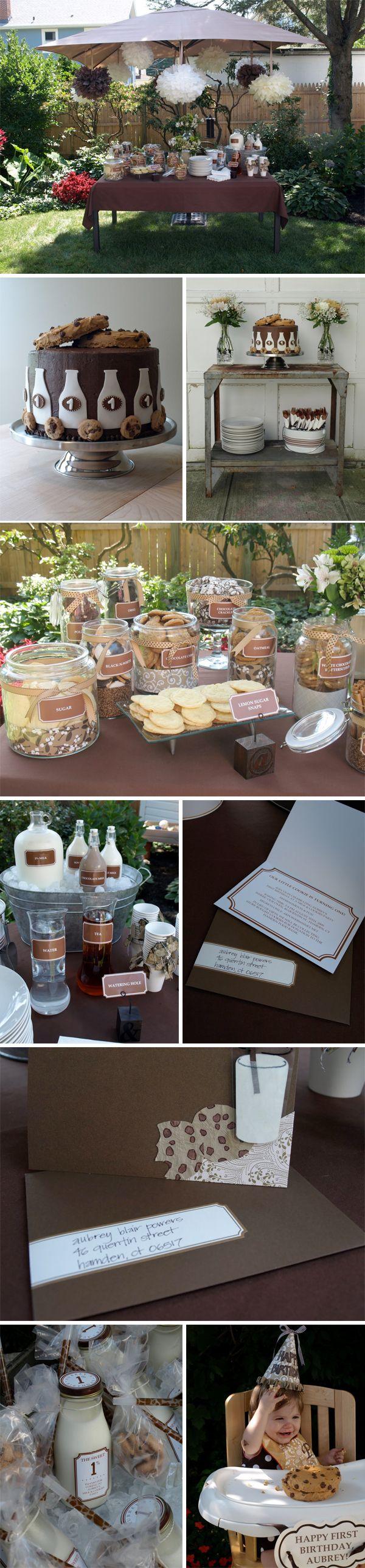Cookies & Milk party: Cookies Parties, Birthday Parties, 1St Birthday, Milk And Cookies, Parties Ideas, Parties Theme, Milk Parties, Cookies Jars, Birthday Ideas