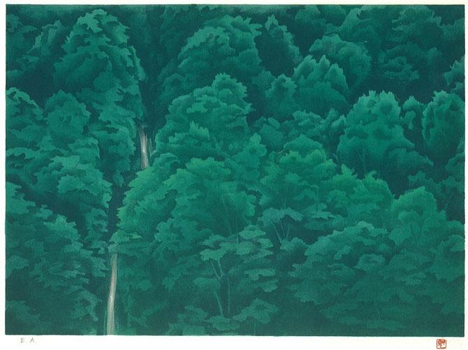 東山魁夷 緑の渓