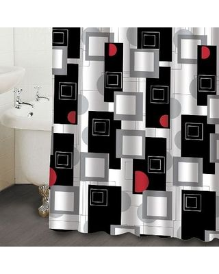 Red And Black Shower Curtains Homeminimalis