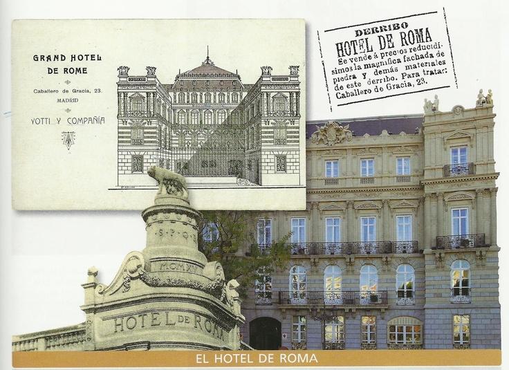 """Anuncio del derribo del """"Hotel de Roma"""" http://elpaisajedemadrid.blogspot.com.es/2013/05/el-desaparecido-hotel-de-roma-y-el.html"""