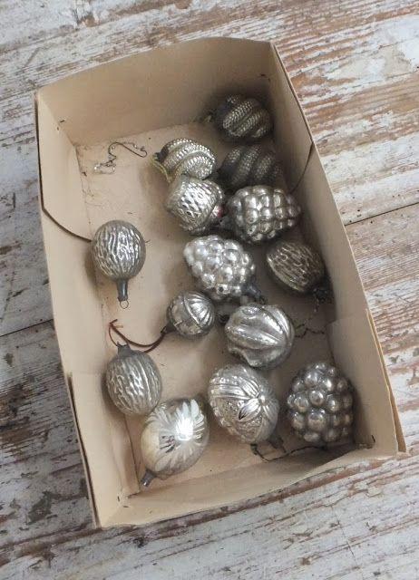 antique gray mercury style ornaments / princessgreeneye: kleiner Tip - glänzende Wirkung............