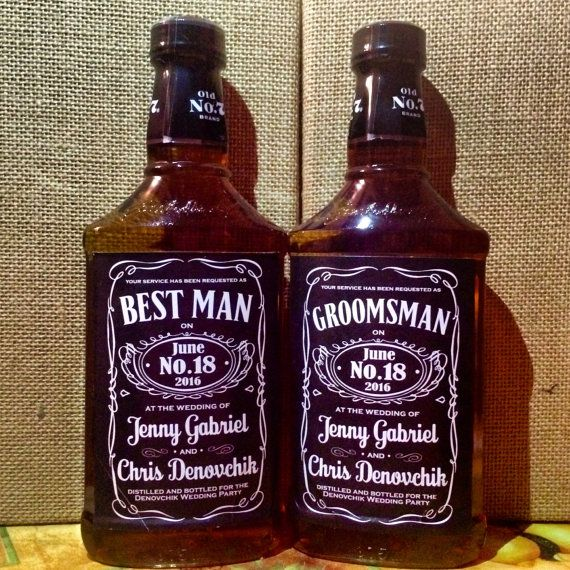 Personalized Sticker Label for Jack Daniels Bottle | Custom Favor Gift Tag for Wedding, Groom, Best Man, Groomsmen, Bachelor Party, CHEERS!