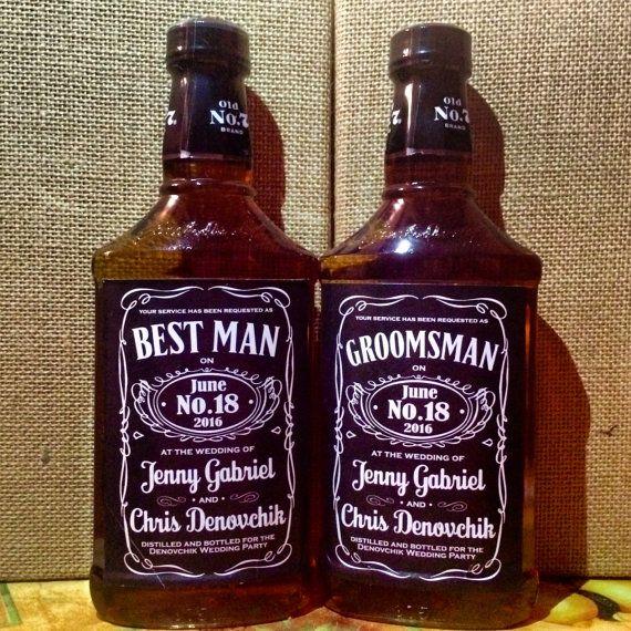 Personalized Sticker Label for Jack Daniels Bottle | Custom Favor Gift Tag for Wedding, Groom, Best Man, Groomsmen, Bachelor Party, CHEERS!