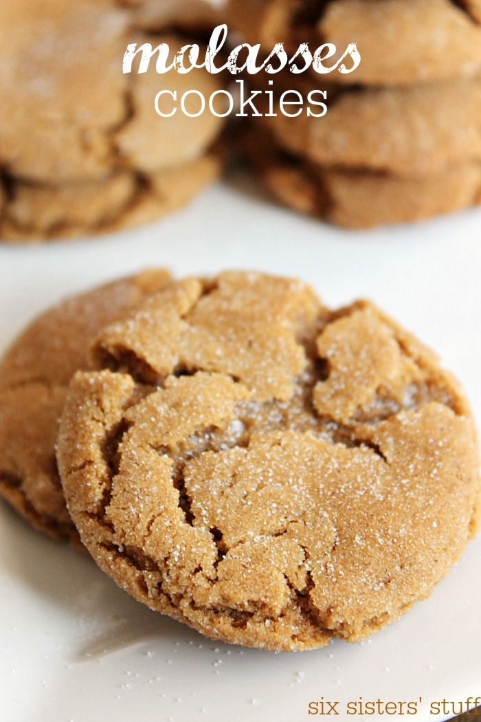 These Molasses Cookies are soft, chewy and filled with amazing flavor! | SixSistersStuff.com