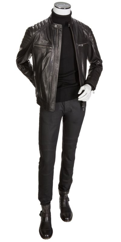 #Belstaff #leatherjacket #outfit // http://www.eckerle.de/outfits/belstaff-outfit-004.html?farbe=
