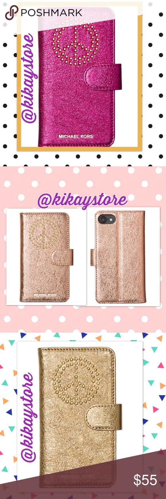 ✈️📲💵 PRE-ORDER Michael Kors Iphone 7 Case! Pre-order yours now for this very elegant MK Iphone 7 Studded Folio Case. Retail @ $80! Fast and reliable shipping. Order now and get your item within 2 weeks! Limited time Comes with various colors #soft pink #ultra pink #gold #light pewter Michael Kors Accessories Phone Cases