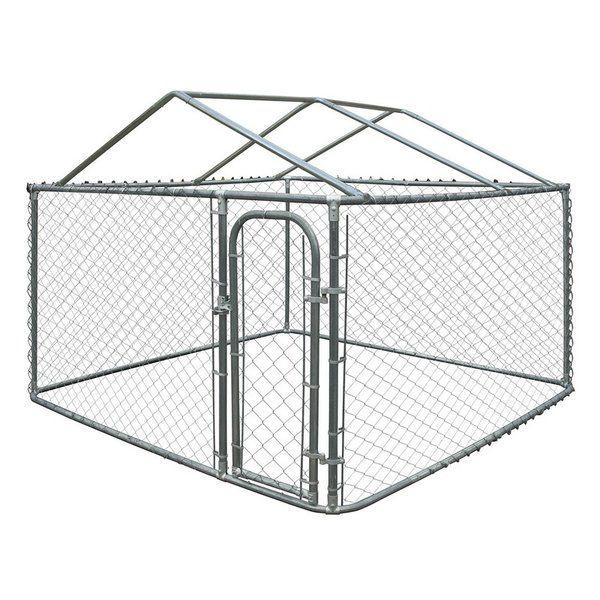 Merlin Diy Chain Link Dog Yard Kennel With Roof Frame Dog Kennel Roof Chain Link Dog Kennel Diy Dog Kennel