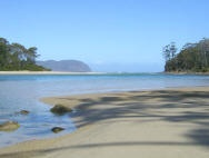 Bruny island - white beaches just for yourself (well in the most you have 10 more people there)