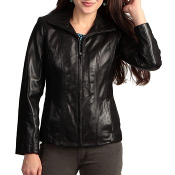 Jones New York Women's Black Leather Jacket. SHOP IT NOW