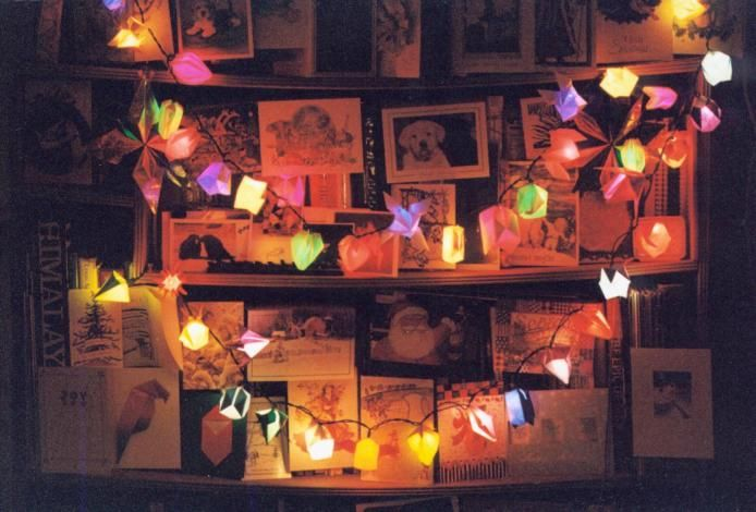 Origami lights.