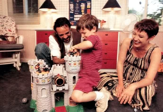 Django El Tahir El Siddig, with his parents Alexander Siddig and Nana Visitor.